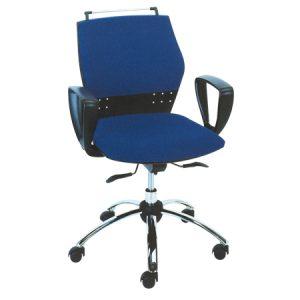 Ergonomic modern design chair with low backrest
