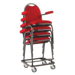 Carrello per trasporto sedie da conferenza