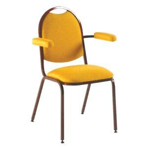 Elegante sedia da conferenza gialla
