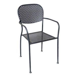 Sedia da giardino in metall: molto resistente. Trattata per resistere agli agenti atmosferici.