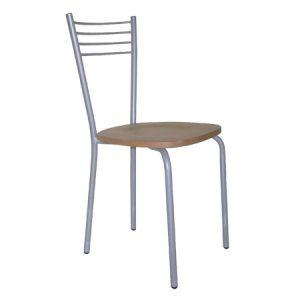 Sedia da cucina che si contraddistingue per la forma dello schienale, elegante e minimalista.
