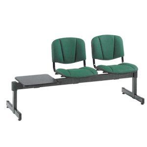 Sedie su panca fissa verde