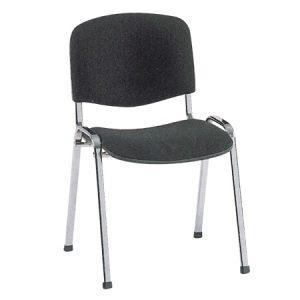 comoda sedia da attesa nera
