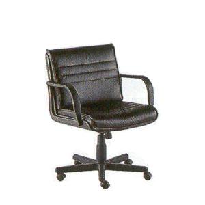 Low swivel armchair