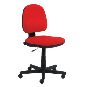 Adjustable red typing desk chair