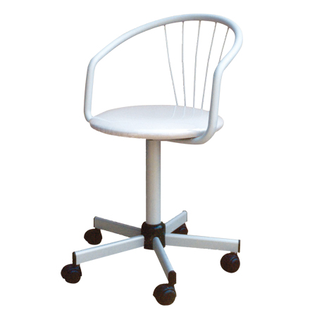 Swivel office chair with modern lines, it can be used as a desk chair for the office or home or as a meeting chair.
