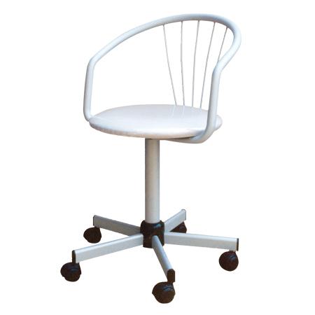 Sedia ufficio girevole dalle linee moderne, può essere usata come sedia da scrivania per l'ufficio o la casa o come poltroncina da meeting.