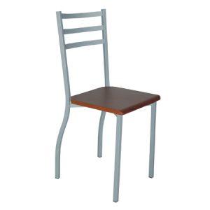 Sedia da cucina con sedile quadrato